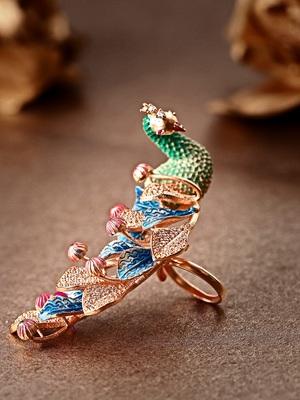 Multicolor american diamond rings