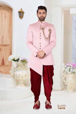 Multicolor plain fancy fabric indo-western-dresses