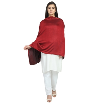 Red Modal Solid Reversible Shawl