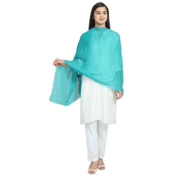 Mint Green Viscose Rayon Solid scarf