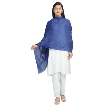 Royal Blue Viscose Rayon Solid scarf
