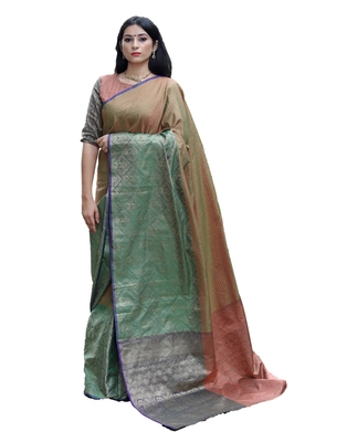 Multicolor woven tanchhoi saree with blouse