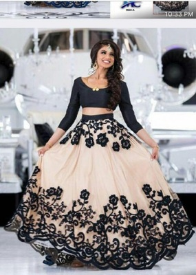 White Embrodery Tishue Net Lehenga Choli With Duptta With Blouse
