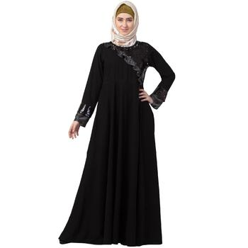 Premium Black Party wear abaya with sequins work