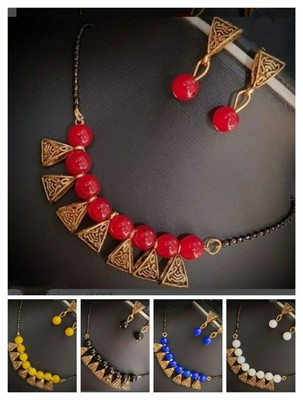 Red pearl mangalsutra