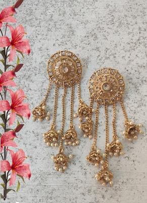 Pearls Tassels  Jhumki Drops Earring
