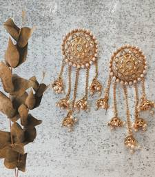 Gold Plated Stylish Pearl Jhumka Jhumki Traditional Earrings