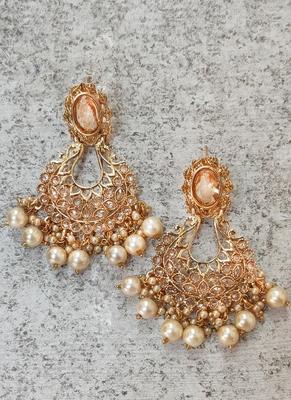Gold-Plated Stone Dangle & Drop Earrings