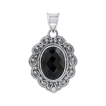 Black onyx pendants