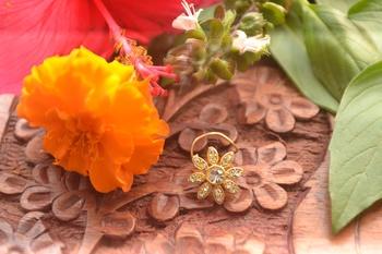 Designer diamond classic nose pin or nose ring