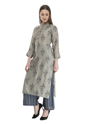 Womens Straight Cotton Rayon Kurta