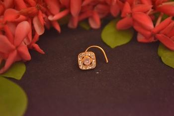 Designer Diamond Classic Pink Nose Pin or Nose ring