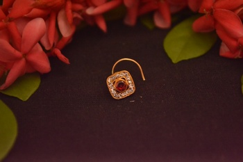 Designer Diamond Classic Red Nose Pin or Nose ring