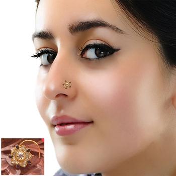 Designer Diamond Classic Blue Nose Pin or Nose ring