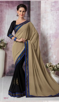 Multicolor hand woven georgette saree with blouse