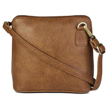 Brown leather sling-bags