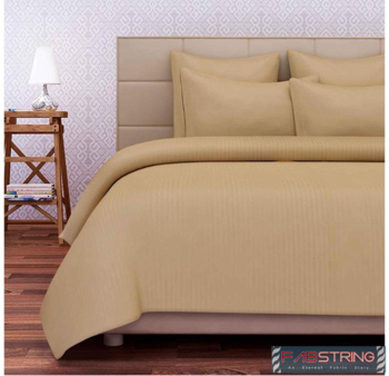 Exclusive Cotton Satin Stripe 210 TC King Size Bedsheet with Two Pillow cover