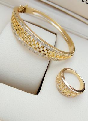 Gold bracelets with ring