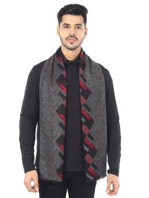 Woven Reversible Printed Men's Wool & Acrylic Muffler Warm Cashmere Wrap Shawl