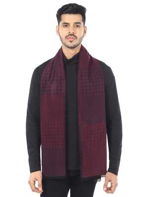 Woven Reversible Printed Men's Wool & Acrylic Muffler Warm Cashmere Wrap Shawl