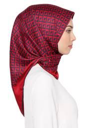 Justkartit Women'S Satin Silk Printed Square Hijab Dupatta For Women