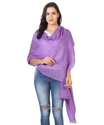 Mouve Super Fine Blended Ultra Soft & Warm Wool Silk Unisex Pashmina Shawl, Stole & Wrap with Hanger