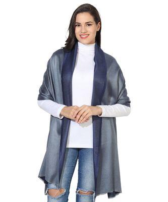 Dark Blue & Grey  Super Fine Soft Women's Mudal Reversible Scarf, Stole & Wrap with Hanger
