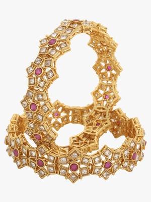 Gold studs bangles
