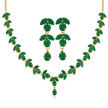 Green crystal necklaces