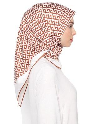Women's 110 * 110 cm Printed Satin Silk Square Hijab Scarf Dupatta