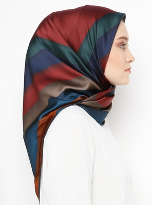 Women'S Daily Wear Satin Silk Printed Square Scarf