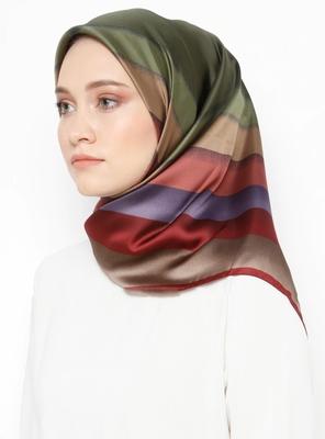 Women'S Occasion Wear Satin Silk Square Scarf Hijab Dupatta