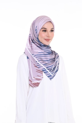 Women's Daily Wear Printed Satin Silk Square Scarf Hijab