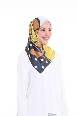 Women'S Daily Wear Printed Satin Silk Square Scarf Hijab