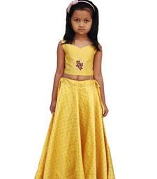 Kids Yellow Blouse And Lehenga Choli