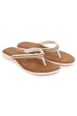 Beautiful Copper color synthetic material flats for women's