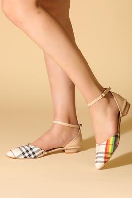 Beautiful multi ankle strap flat sandals
