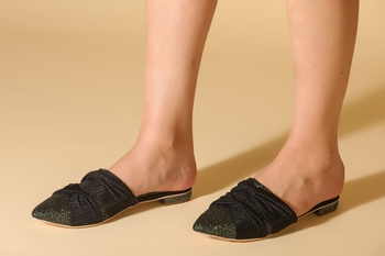 Beautiful Black slip on flat  mules