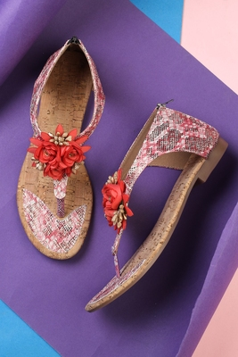 Beautiful Red closed back flat sandals