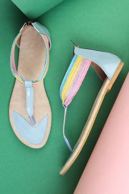 Beautiful blue  closed back  flat sandals