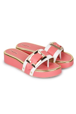 Shezone Beautiful pink  toe separator   flat forms sandals