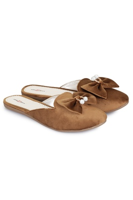 Shezone Beautiful Brown  slip on mules flat sandals