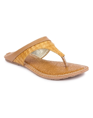 Yellow solid synthetic sandals