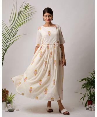Kaifi Cotton Long Dress