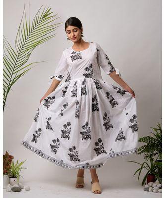 Port Cotton Long Dress