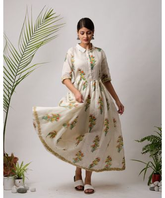 Trema Cotton Long Dress