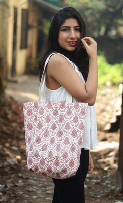 Canvas Hand-printed Shopping Bags