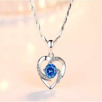 Blue cubic zirconia pendants