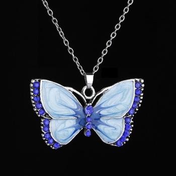 Blue cubic zirconia pendants