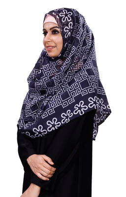 Women's Casual Wear Printed Soft Silk Scarf Hijab Dupatta